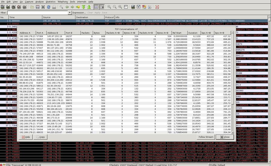 CAPTCP - TCP Analyzer